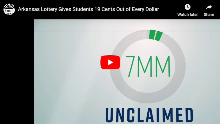Video: Arkansas Lottery Gives Students 19 Cents Out of Every Dollar