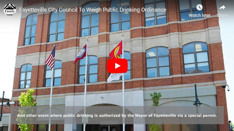 Video: Fayetteville City Council To Weigh Public Drinking Ordinance